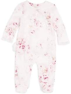 Miniclasix Baby Girl's Cotton Footed Coverall