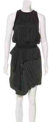 A.L.C. Tiered Knee-Length Dress Olive Tiered Knee-Length Dress