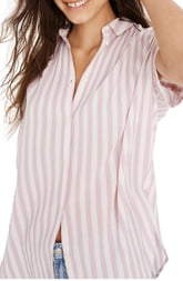 Madewell Central Lavender Stripe Tunic Shirt