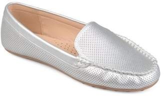 Co Brinley Women's Comfort Sole Faux Nubuck Laser Cut Loafers