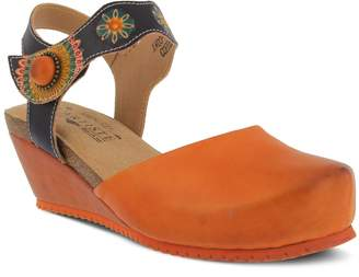Spring Step L'Artiste by Women's Style Glovely Euro Size 37 Leather Sandal