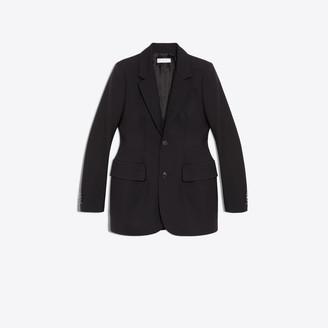 Balenciaga Hourglass wool single breasted jacket