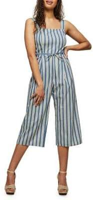 Miss Selfridge Striped Cropped Wide-Leg Jumpsuit