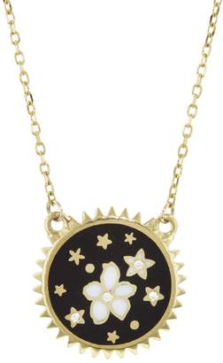 Foundrae Dark Blossoms Petite Champlevé Stationary Necklace