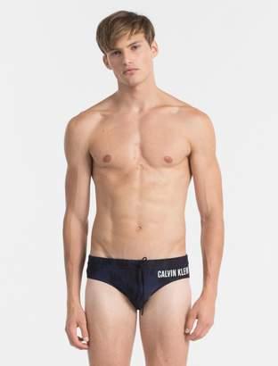 Calvin Klein intense power logo printed swim briefs