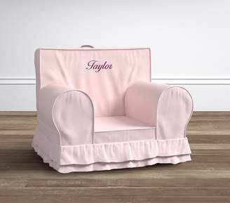 Pottery Barn Kids Pink Lux Ruffle Oversized Anywhere Chair Slipcover® Only