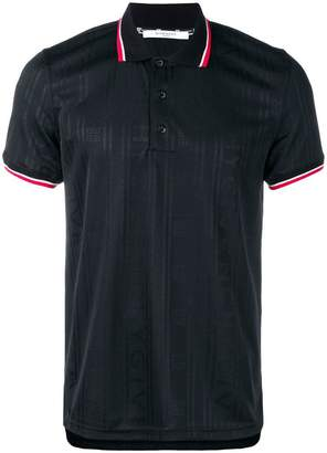 Givenchy contrast stripe polo shirt