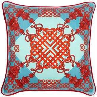 Bivain - Xanadu Red Silk Cushion