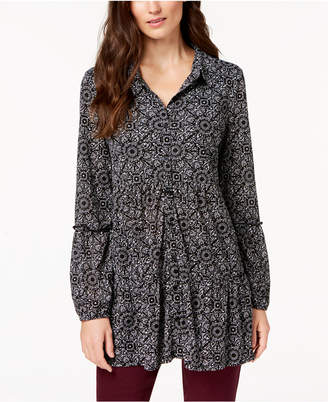 Style&Co. Style & Co Petite Printed Blouse, Created for Macy's