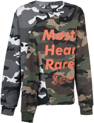 Mostly Heard Rarely Seen layered effect camouflage sweatshirt