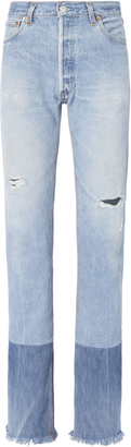 RE/DONE High-Rise Stove Pipe Two-Tone Jeans