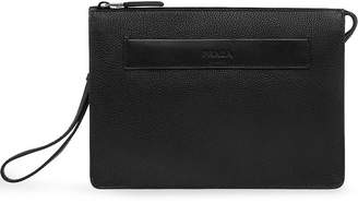 Prada grained clutch bag