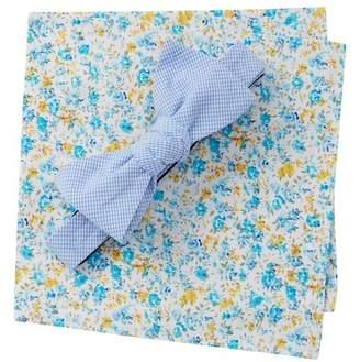 Original Penguin Radek Check Bow Tie & Pocket Square Set