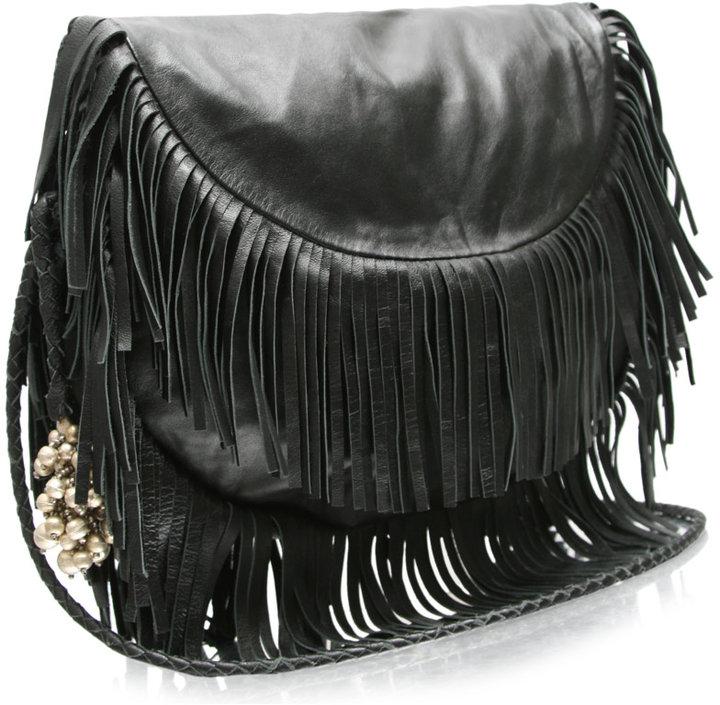 Antik Batik Leather Fringe Bag