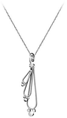 Disney Mickey Mouse Necklace - Three Diamond Drop