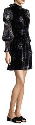 Rebecca Taylor Velvet Mini Dress