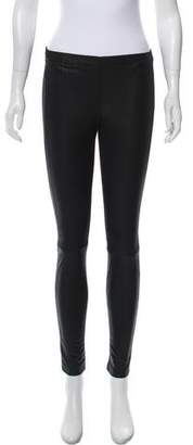 La Marque Leather-Trimmed Elasticized Leggings