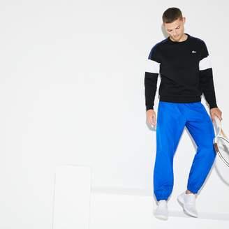 Lacoste Men's SPORT Tennis trackpants in diamond weave taffeta