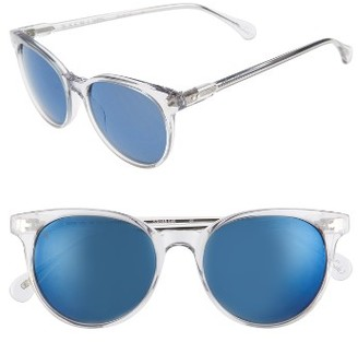 Women's Raen Norie 51Mm Cat Eye Mirrored Lens Sunglasses - Artic Crystal $155 thestylecure.com