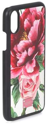 Dolce & Gabbana iPhone X floral-printed case