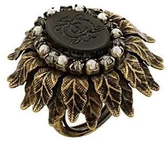 Juicy Couture Black Drama JC Logo Adjustable Ring - Gothic Design