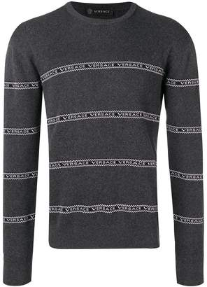 Versace logo stripe jumper