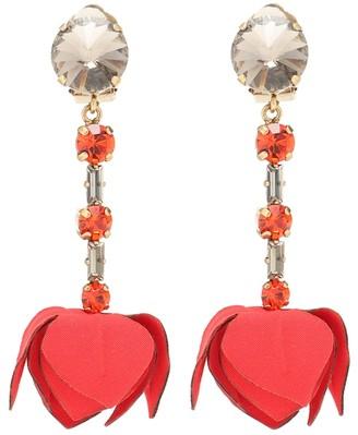 Marni Crystal clip-on drop earrings
