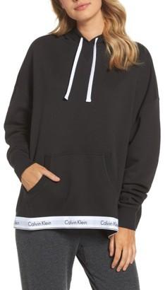 Women's Calvin Klein Modern Cotton Lounge Hoodie $84 thestylecure.com