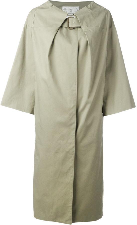 Tsumori ChisatoTsumori Chisato collar-belted coat