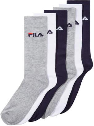 Fila Men's 6-Pk. Cushioned Crew Socks