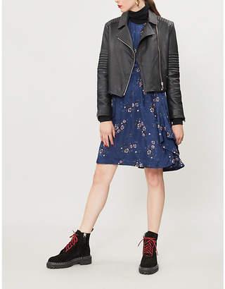 Kenzo Floral-jacquard satin dress