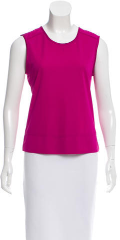 Tory Burch Tory Burch Sleeveless Crew Neck Top