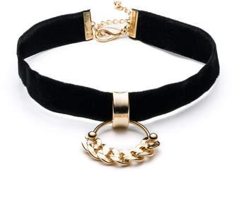 Dannijo Domini Black Velvet Choker Necklace
