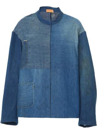 B SIDES Exclusive Patchwork Denim Apron Jacket