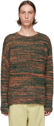 Our Legacy Green Smudge Fair Isle Sweater