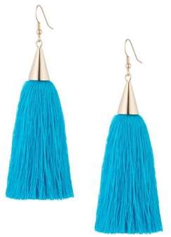 Eddie Borgo Short Silk Tassel Earrings