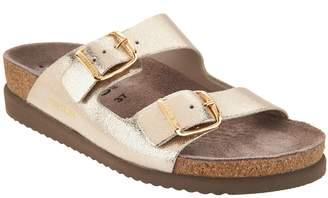 Mephisto Leather Double Strap Slide Sandals - Harmony