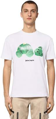 Palm Angels Printed Cotton Jersey T-Shirt