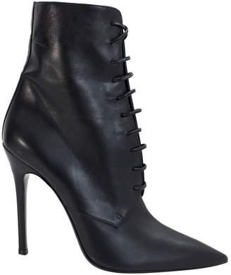 Yang Li Black Leather Ankle boots