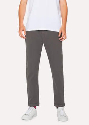 Paul Smith Men's Grey Cotton-Blend Drawstring Pants