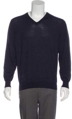 Brunello Cucinelli Wool & Cashmere V-Neck Sweater