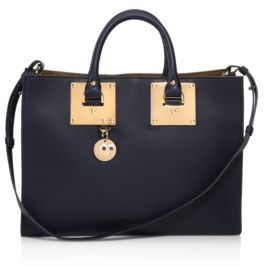 Sophie Hulme Albion Leather East-West Tote $985 thestylecure.com