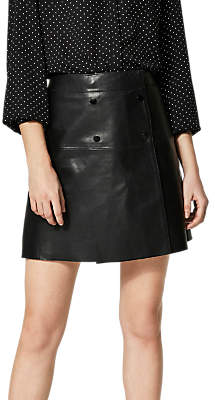 Selected Zadig Leather Skirt, Black