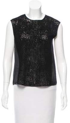 Rebecca Taylor Sleeveless Laser Cut Top