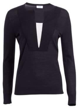 Akris Punto Splitneck Wool Sweater