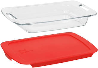 Pyrex Easy Grab 3-qt. Baking Dish with Red Plastic Cover