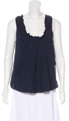 Hache Ruched Sleeveless Top