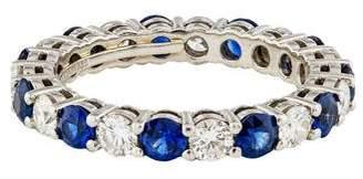 Tiffany & Co. Platinum Sapphire & Diamond Eternity Band