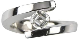 Gelin Abaci Tension 14K White Gold and 0.75ct Diamond Solitaire Engagement Ring Size 5.25