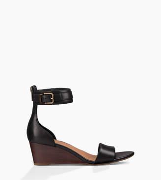 75b15c0508e UGG Black Leather Sandals For Women - ShopStyle UK